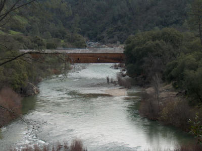 Bridgeport at the Yuba River, Nevada County, California